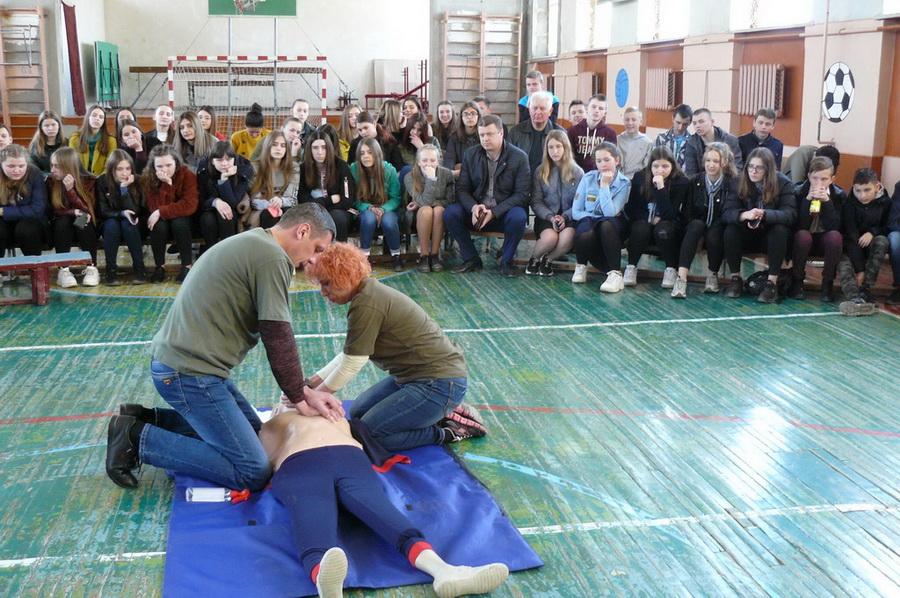 Тренінг з домедичної допомоги для старшокласників ЗЗСО м.Яворова